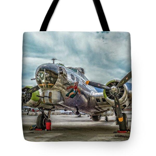 Madras Maiden B-17 Bomber Tote Bag