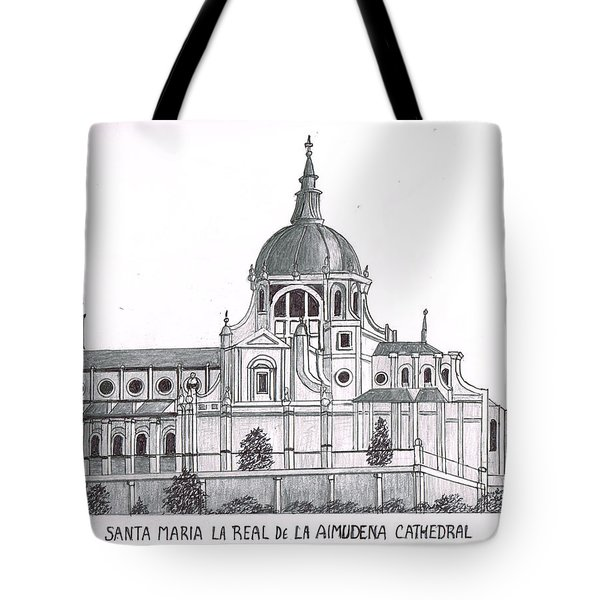 Madrid Cathedral Aimudena Tote Bag