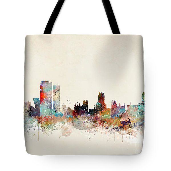 Tote Bag featuring the painting Madrid Spain by Bri B
