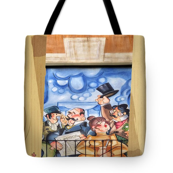 Madrid Wall Art Tote Bag by Joan Carroll