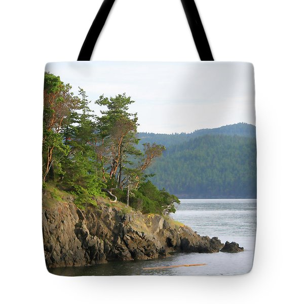 Tote Bag featuring the photograph Madrone Trees - San Juan Islands by Art Block Collections