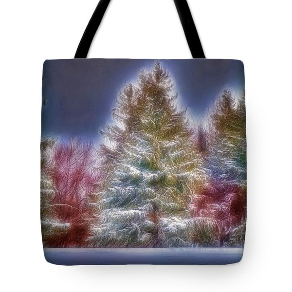 Merrry Christmas And Happy New Year Tote Bag