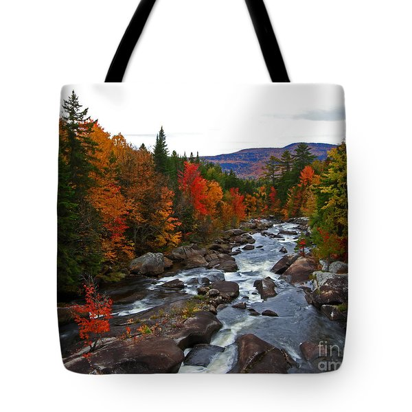 Magalloway River In Fall Tote Bag