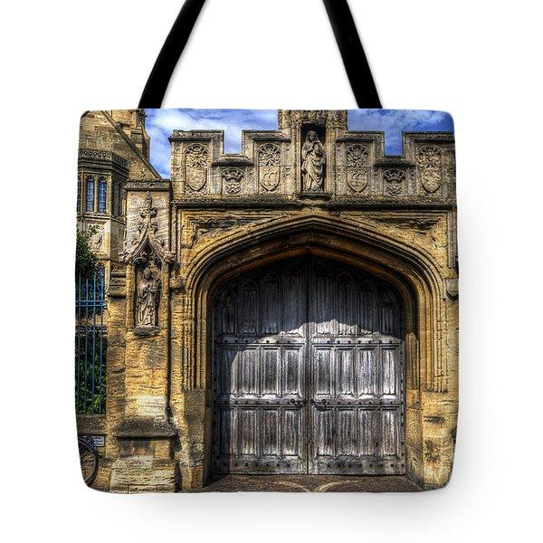 Magdalen College Door - Oxford Tote Bag