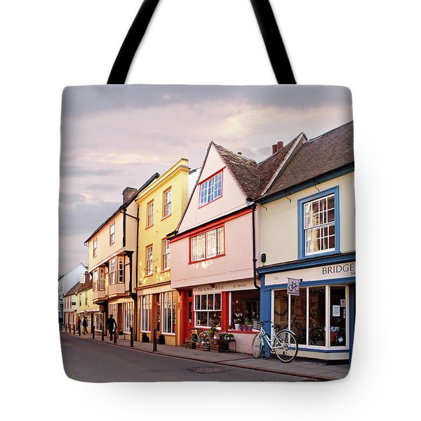 Tote Bag featuring the photograph Magdalene Street Cambridge by Gill Billington