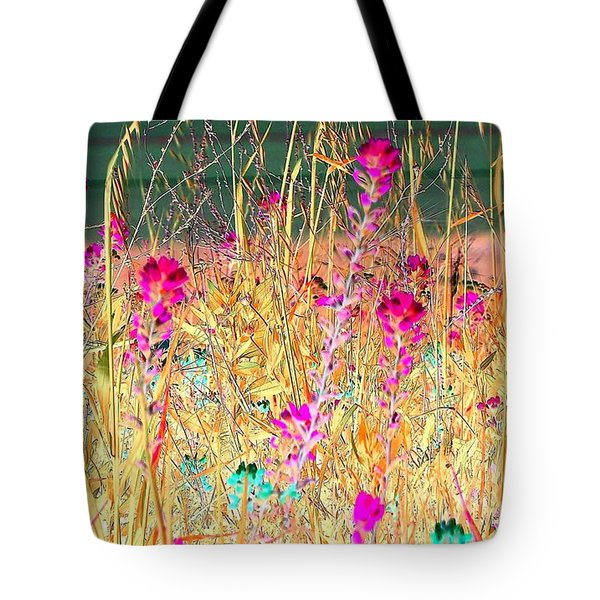 Tote Bag featuring the photograph Magenta Bluebonnets by Ellen O'Reilly