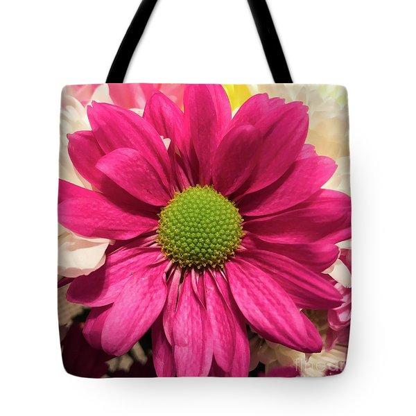 Magenta Chrysanthemum Tote Bag