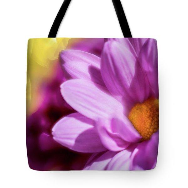 Magenta Floral Tote Bag