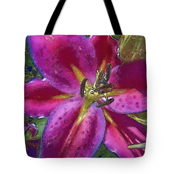 Tote Bag featuring the photograph Magenta Flower by Paula Porterfield-Izzo