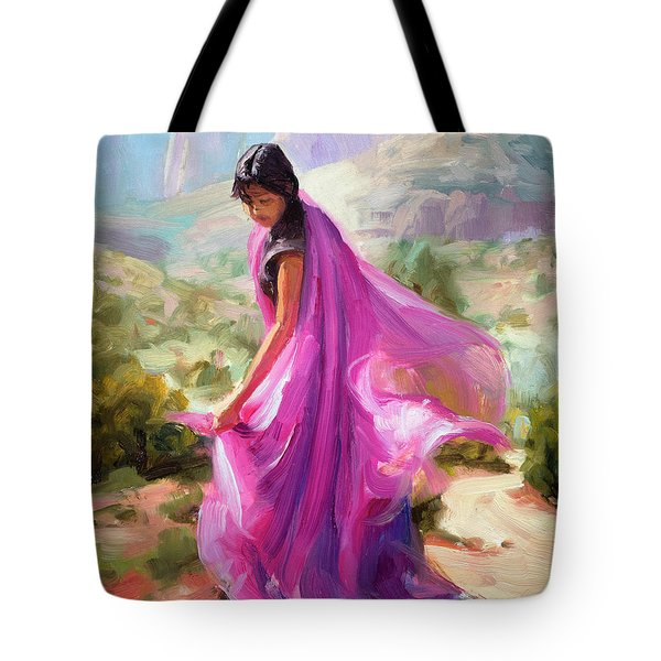 Tote Bag featuring the painting Magenta In Zion by Steve Henderson
