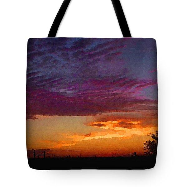 Magenta Morning Sky Tote Bag