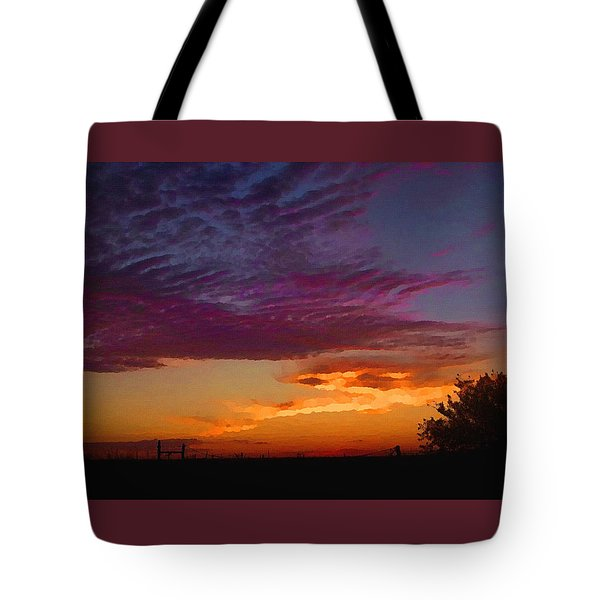 Magenta Morning Sky Tote Bag