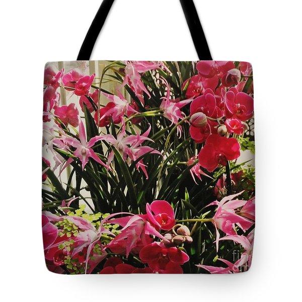 Magenta Orchid Garden Tote Bag
