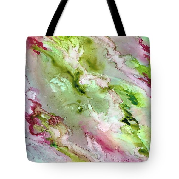 Magenta Ribbons Tote Bag by Rosie Brown