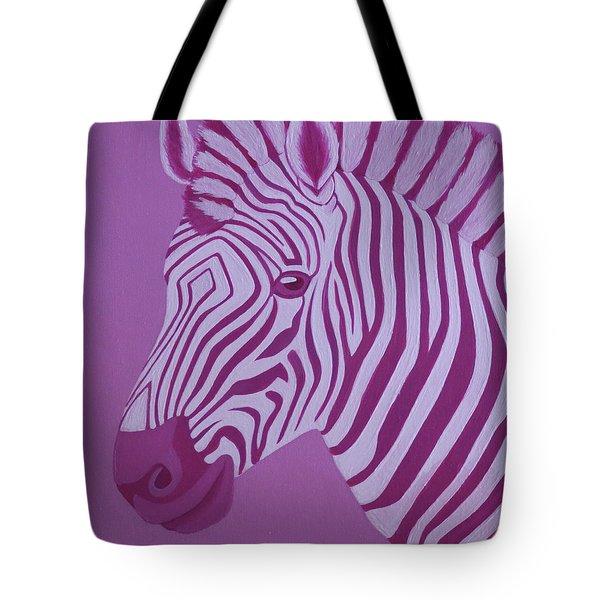 Magenta Zebra Tote Bag