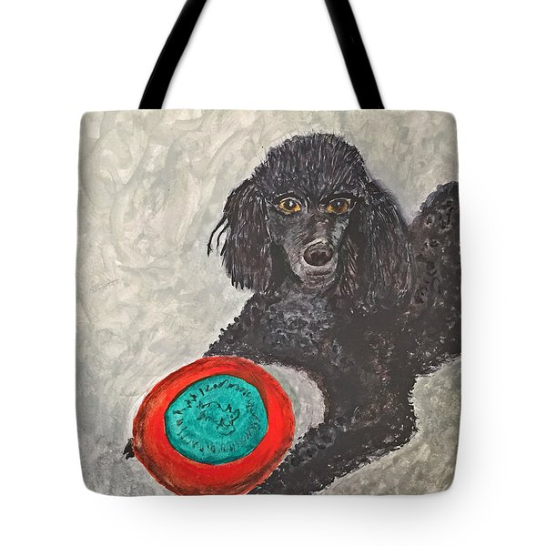 Maggie And Her Frisbee Tote Bag