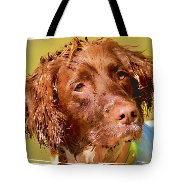 Tote Bag featuring the photograph Maggie Head 3 by Constantine Gregory