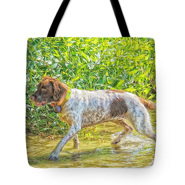 Tote Bag featuring the photograph Maggie Stride Photo Art by Constantine Gregory
