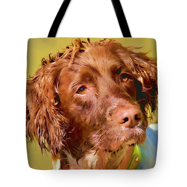 Tote Bag featuring the photograph Maggie Wc by Constantine Gregory