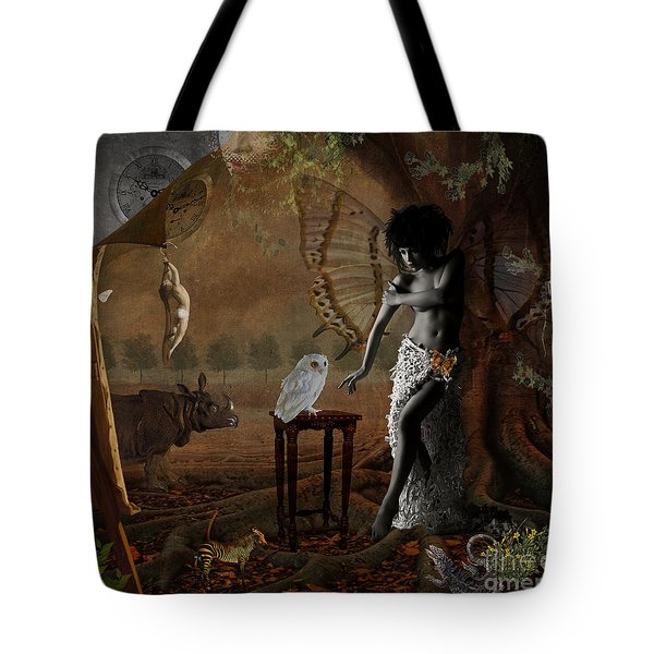 Tote Bag featuring the digital art Maggie's World by Nola Lee Kelsey