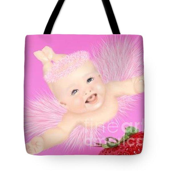 Magic Baby Face-pink Angle Tote Bag
