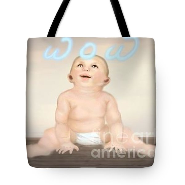 magic baby face-WOW Tote Bag