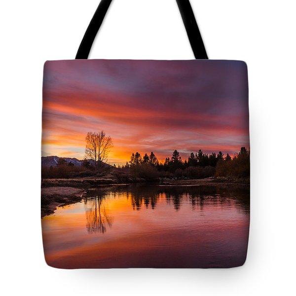Magic Blue Hour At Lake Tahoe Tote Bag