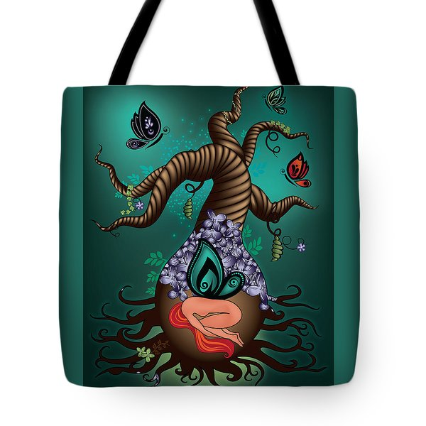 Magic Butterfly Tree Tote Bag by Serena King