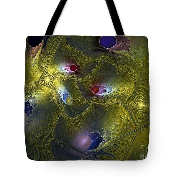 Tote Bag featuring the digital art Magic Carpet by Karin Kuhlmann