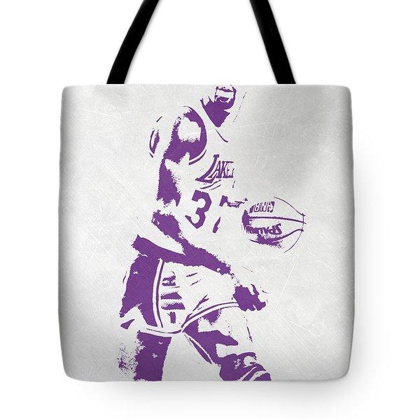 Magic Johnson Los Angeles Lakers Pixel Art Tote Bag