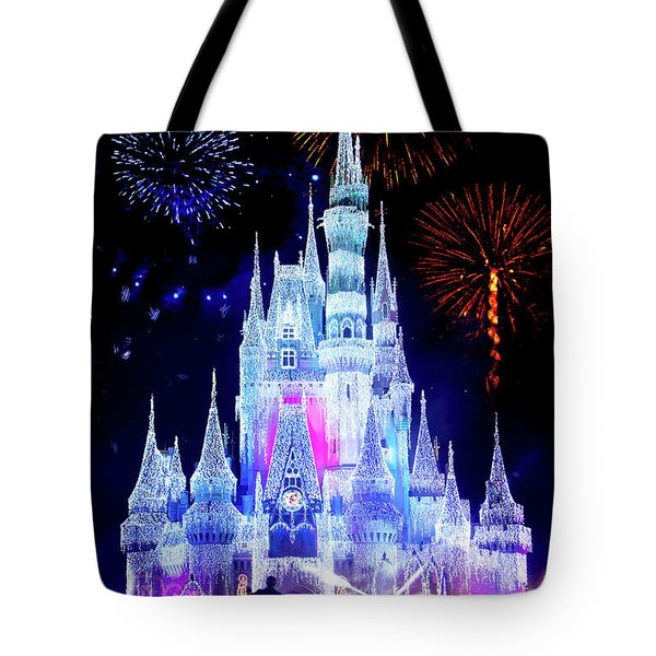 Magic Kingdom Fireworks Tote Bag