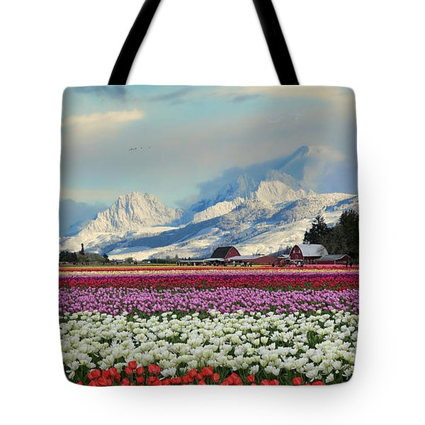Magic Landscape 1 - Tulips Tote Bag by Rick Lawler