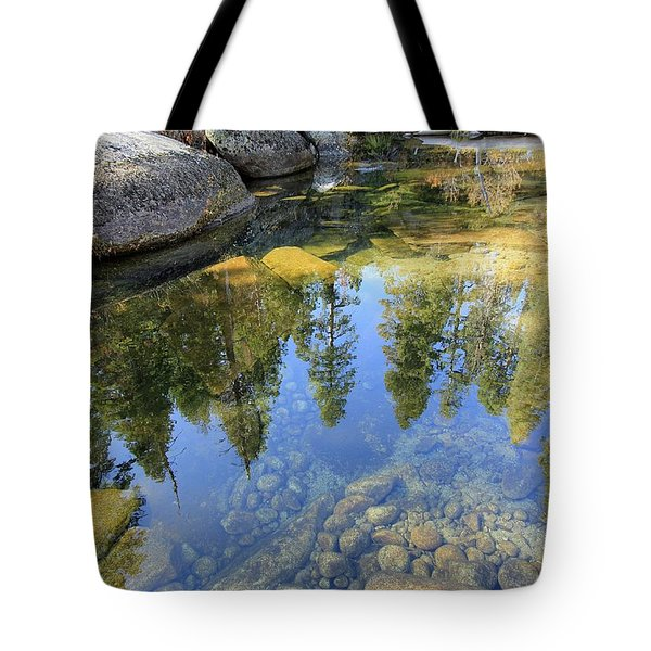 Magic Light On Big Silver Tote Bag
