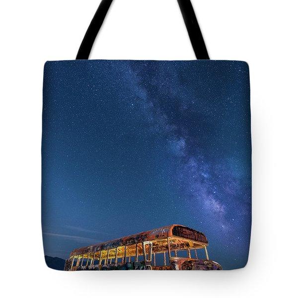 Magic Milky Way Bus Tote Bag