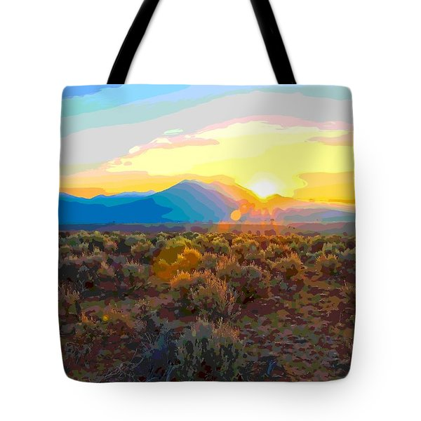 Magic Over Taos Tote Bag