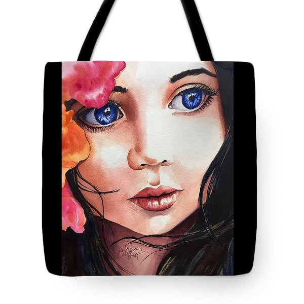 Tote Bag featuring the painting Magic Secrets by Michal Madison