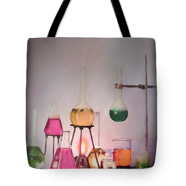Magical Beakers Tote Bag by Enzie Shahmiri
