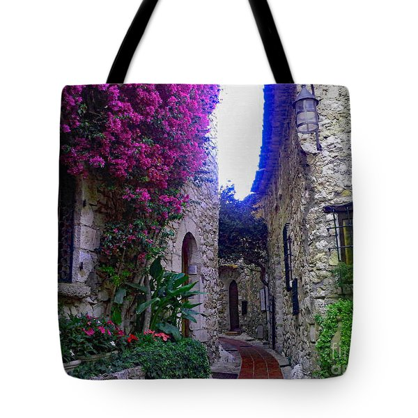 Magical Beauty In Eze France Tote Bag