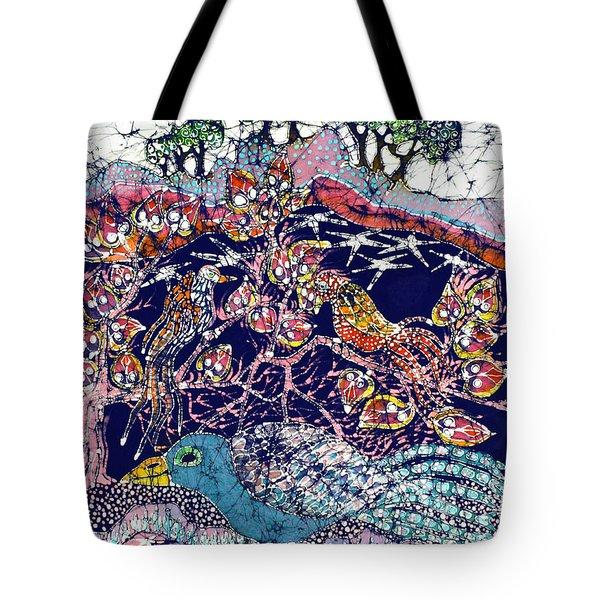 Magical Birds Tote Bag by Carol  Law Conklin