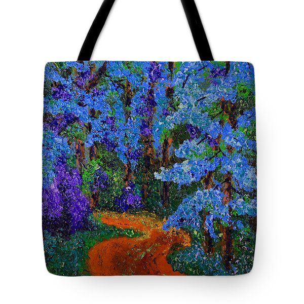 Magical Blue Forest Tote Bag
