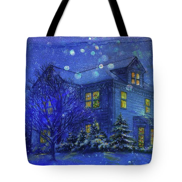 Magical Blue Nocturne Home Sweet Home Tote Bag