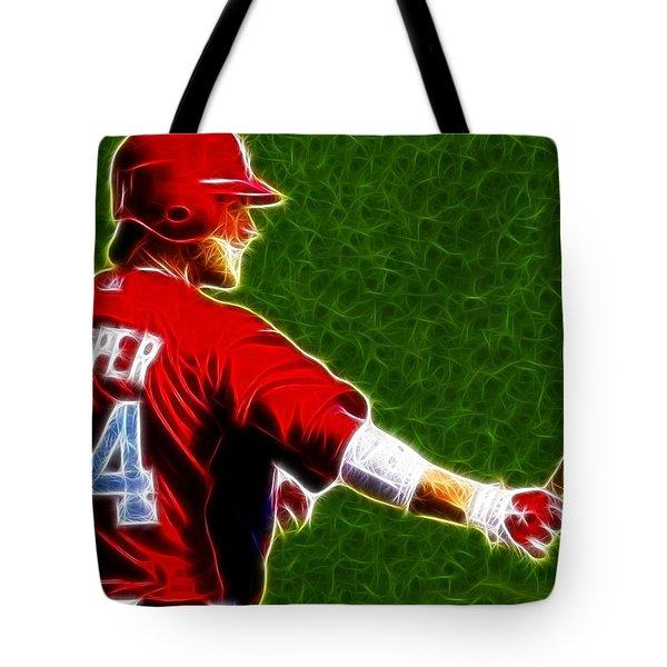 Magical Bryce Harper Tote Bag by Paul Van Scott
