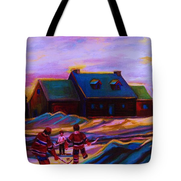 Magical Day For Hockey Tote Bag by Carole Spandau
