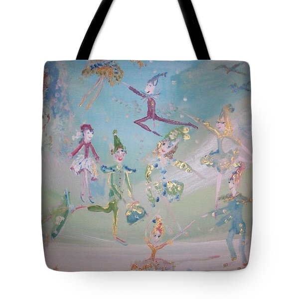 Magical Elf Dance Tote Bag by Judith Desrosiers