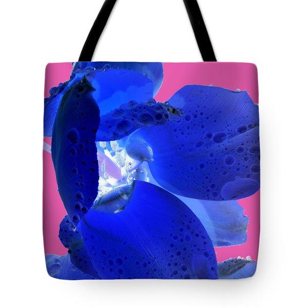 Magical Flower I - Blue Velvet Tote Bag