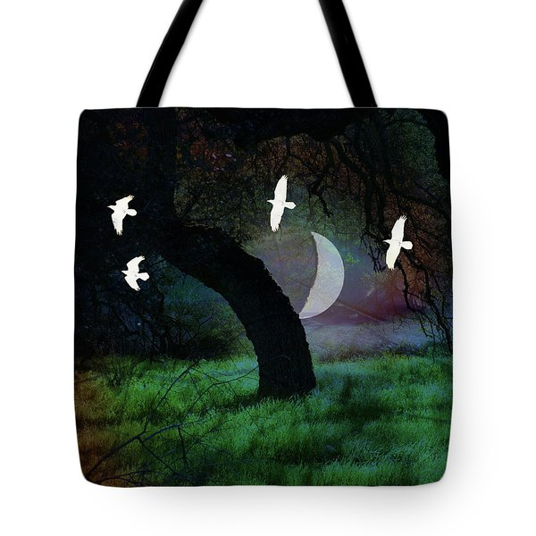 Magical Forest Night Tote Bag by Robert Ball