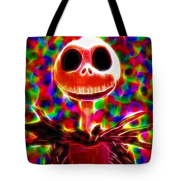 Magical Jack Skellington Tote Bag by Paul Van Scott