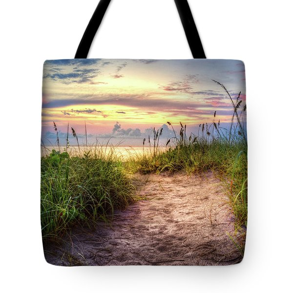 Tote Bag featuring the photograph Magical Light In The Dunes by Debra and Dave Vanderlaan