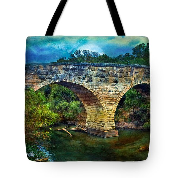 Magical Middle Of Nowhere Bridge Tote Bag