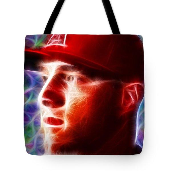 Magical Mike Trout Tote Bag by Paul Van Scott